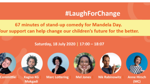 Laugh for 67 minutes and change a child's life on Mandela Day