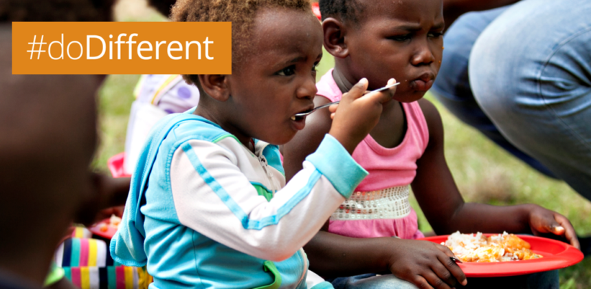 Pledge to #doDifferent and your actions help to raise funds to feed our children